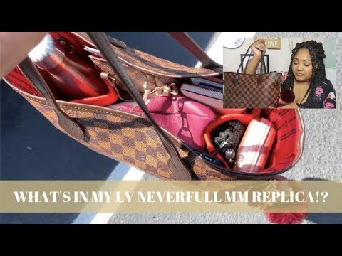 What's In My Bag!? Planner Supplies, Pens, Techy Stuff, etc | Louis Vutton Neverfull MM Replica