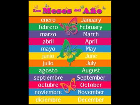 english to spanish months of the year - YouTube