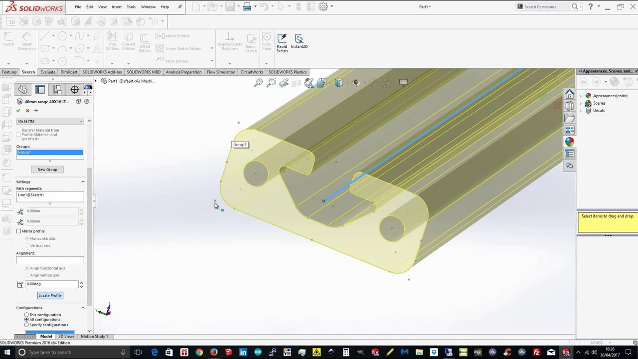 weldment profiles solidworks