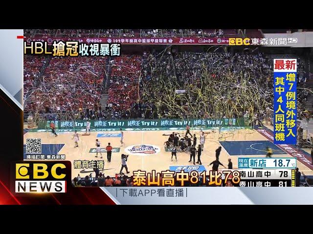 HBL好夯!冠軍戰泰山封王 全台55萬人鎖定電視 @東森新聞 CH51