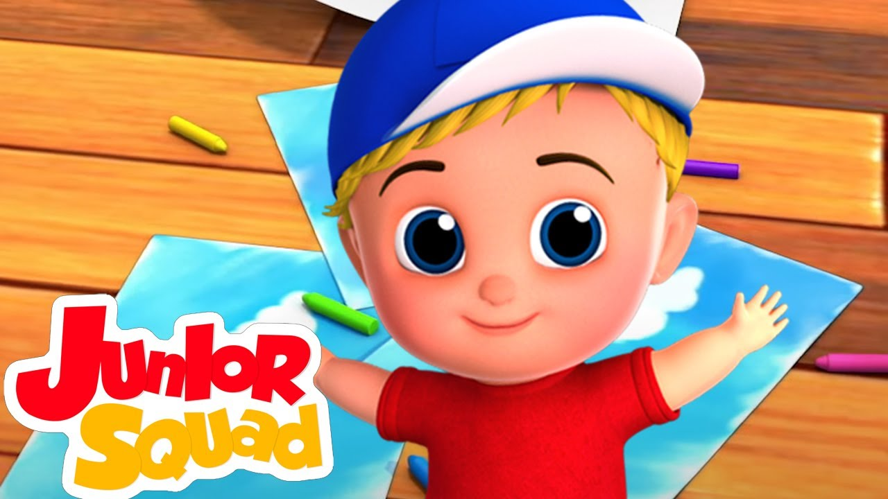 Canción de colores | Rimas para niños | Educación | Junior Squad Español Latino | Dibujos animados
