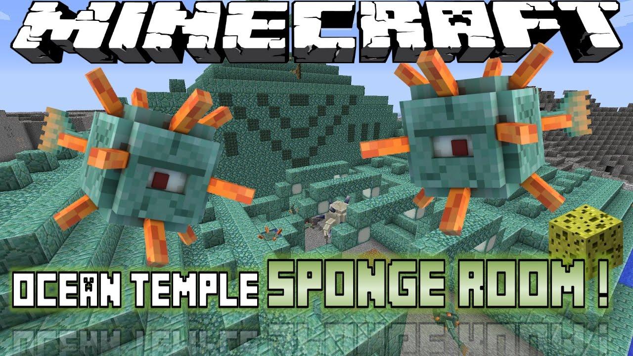 Minecraft Sponge Room  Ocean Temple  Nether Fortress
