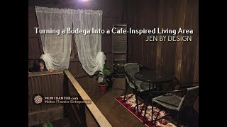 Jen by Design  - Turning a Bodega Into a Cafe-Inspired Living Area