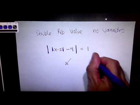 Solving Advanced Absolute Value Equations