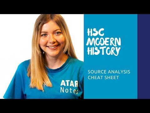 HSC Modern History | Source Analysis Cheat Sheet