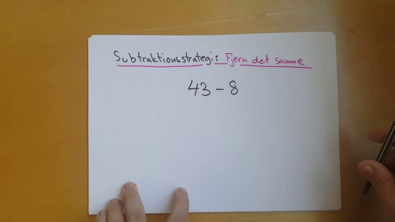Subtraktionsstrategi: Fjern det samme