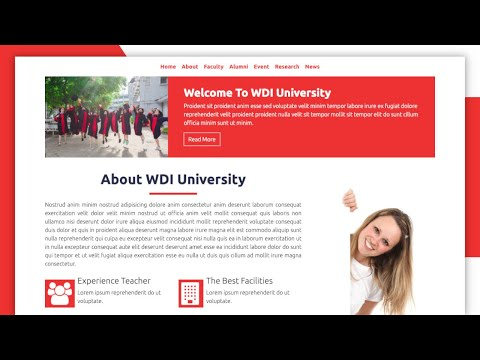 Hot to Create Bootstrap 4 Animated Template: University Template (Free download)