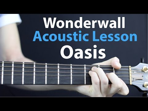 Oasis - Wonderwall: Acoustic Guitar Lesson - Easy Beginner tutorial