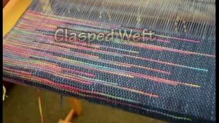 Clasped Weft weaving on a rigid heddle loom