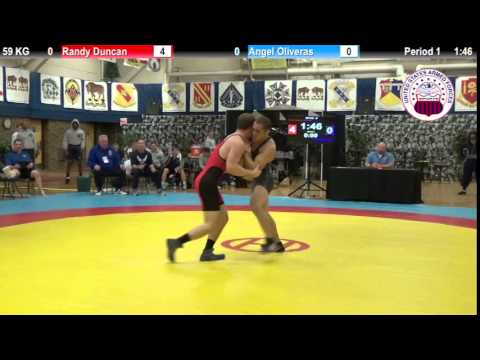 Dual #5 - GR 59 KG - Randy Duncan (USAF) vs. Angel Oliveras (Navy)