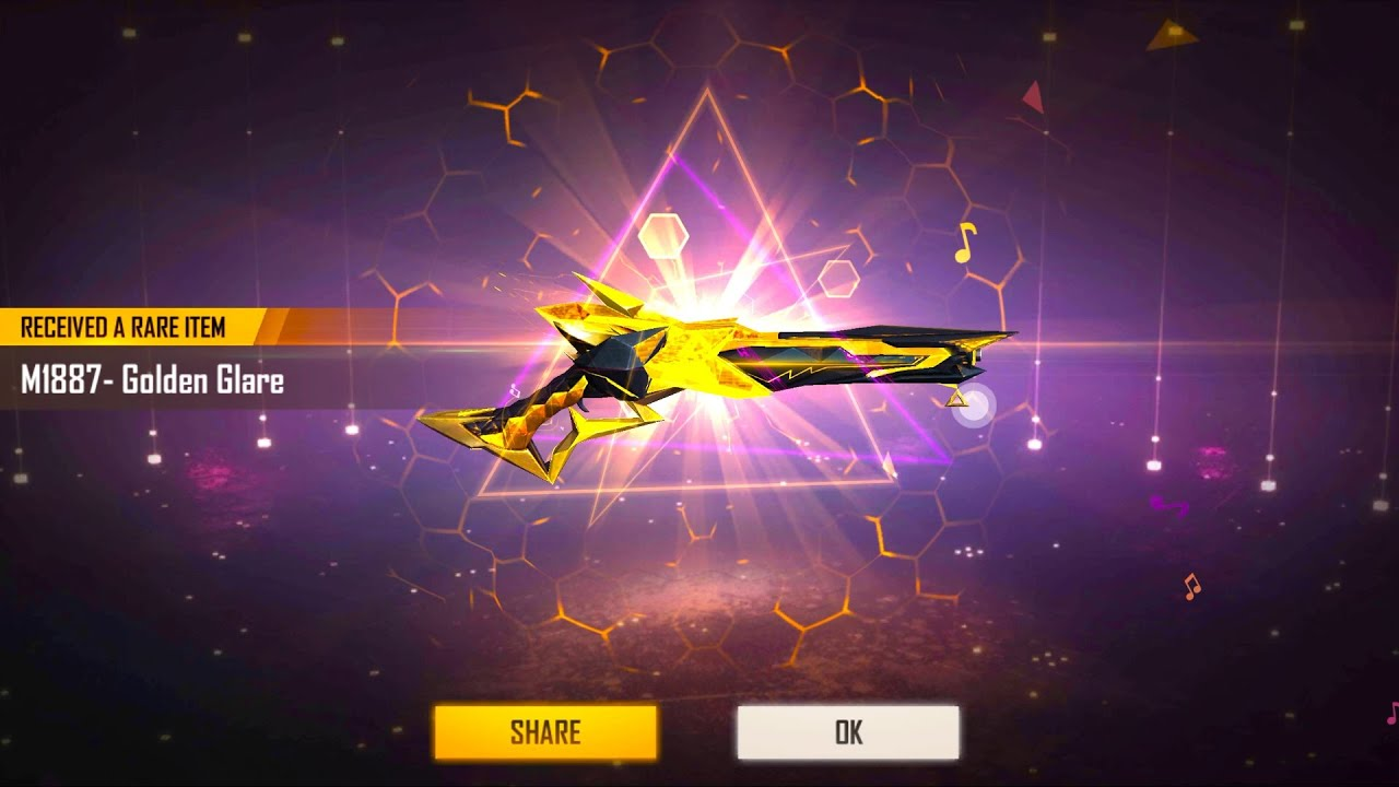 I Got New  M1887 Gold Glare 😍 | 6000 Diamonds to 60 Diamonds Journey 😭😡