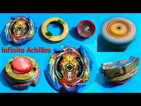 How to make《🔥Infinite Achilles🔥》||😰 Burst able cardboard beyblade 👈||👉 Sonic Ideas 👈.