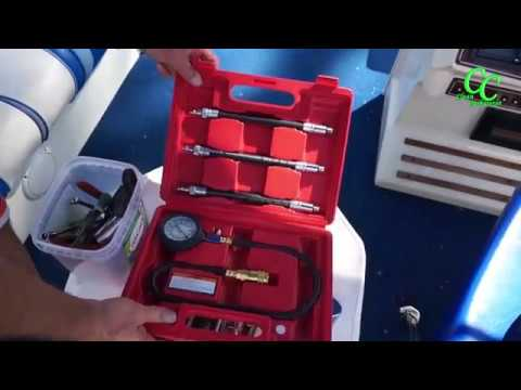 How to Check Compression Test an Outboard Engine Mercury Force 40 HP