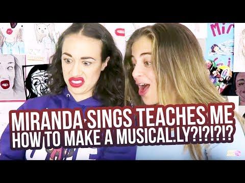 MIRANDA SINGS TEACHES ME HOW TO MAKE A MUSICALLY?!?!?!?