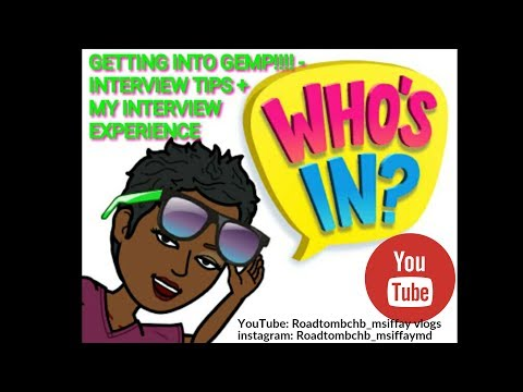 GETTING INTO GRAD. MED. SCH. (GHANA) - Interview tips -UGMS GEMP | GET INTO MED SCH SERIES