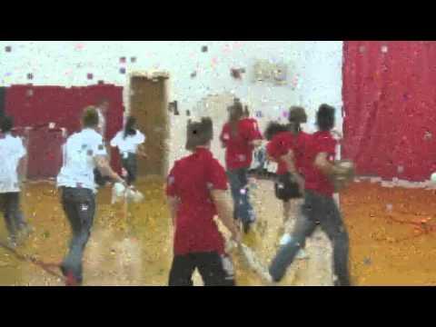 Clarinda Middle School Winter Olympics sock hockey