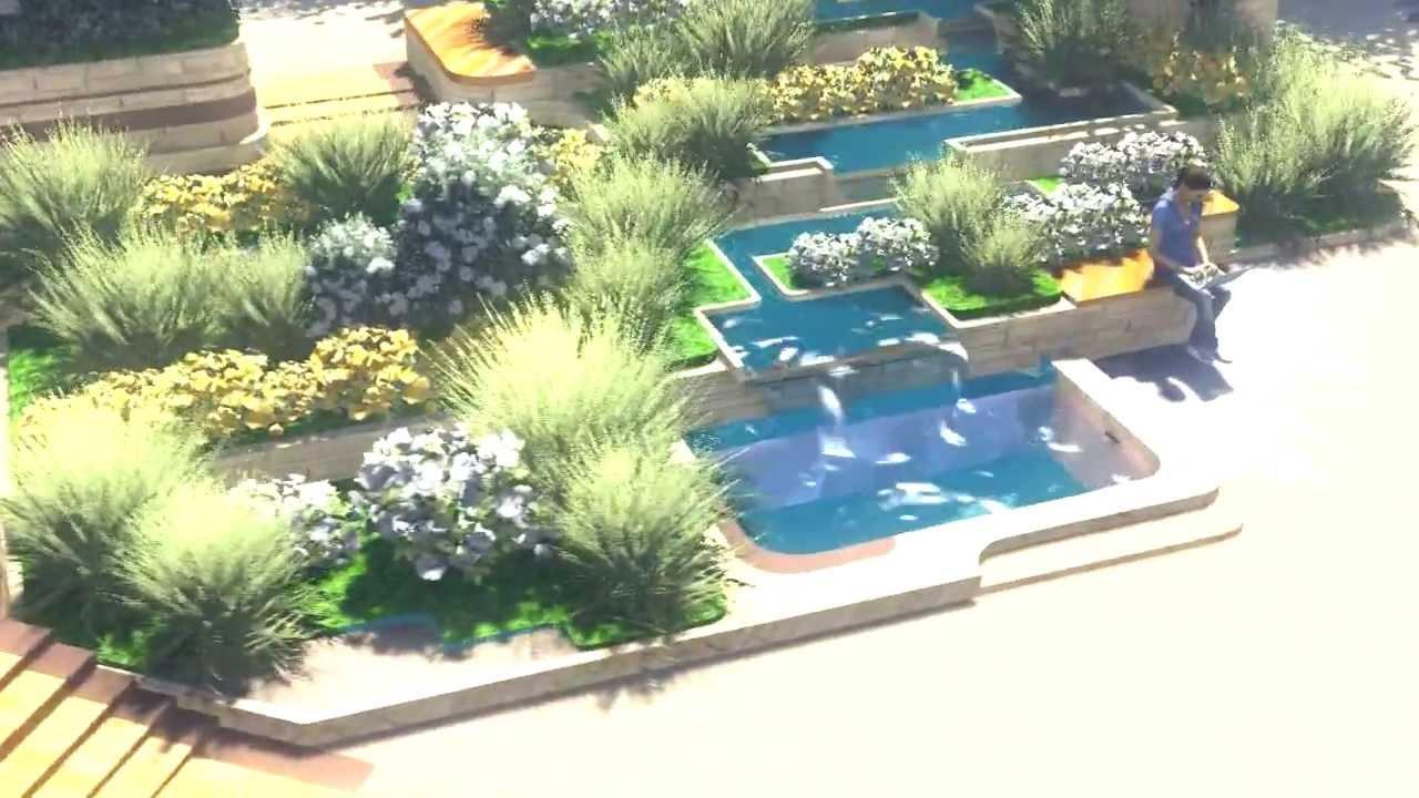 Landscape architect 3d youtube for Online landscape design