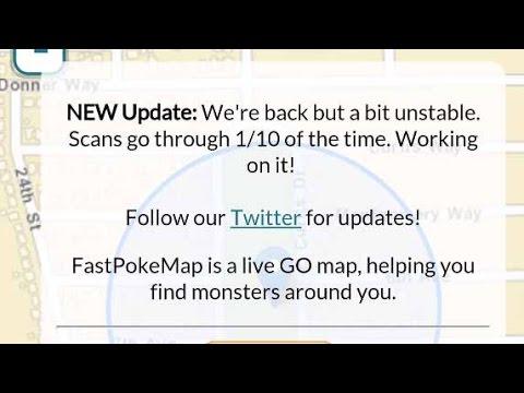 Fast Poke Map is Back Online! Fastpokemap Pokémon GO Tracker Is Working  Again!