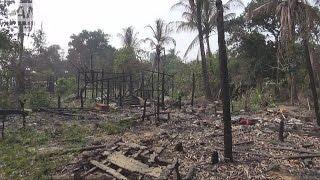 """破壊されたロヒンギャの村 """"虐殺や人権侵害も""""(16/12/22) ロヒンギャ 検索動画 2"""