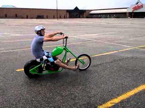 Custom Mini-chopper cruisin the mall parking lot - YouTube