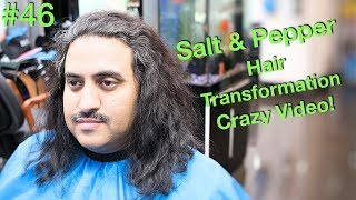 Crazy Curly Hair Transformation ✔️(Haircut & Hair Straightening) Long hairstyles for Men 2018