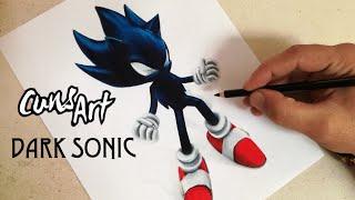 COMO DIBUJAR A DARK SUPER SONIC | SONIC | how to draw dark super sonic | Cuns Art
