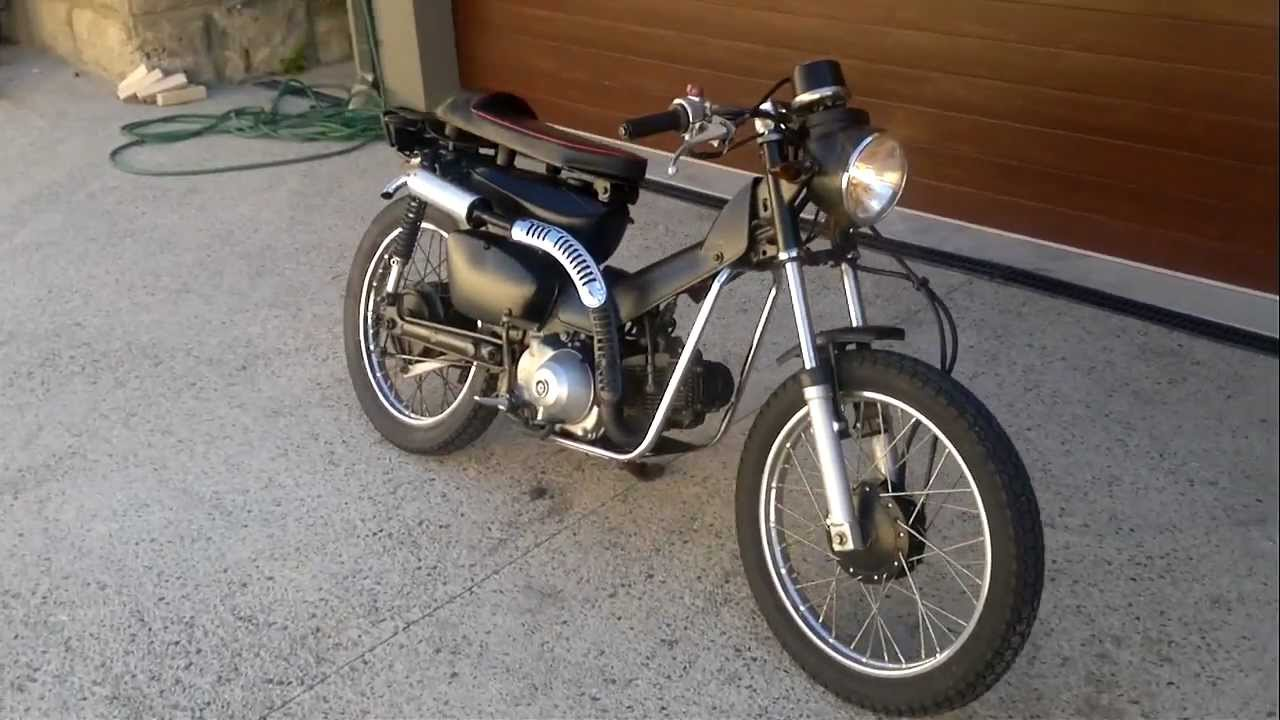 Honda postie custom - YouTube