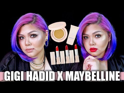 GIGI HADID X MAYBELLINE FIRST IMPRESSION REVIEW AND DEMO | Bing Castro