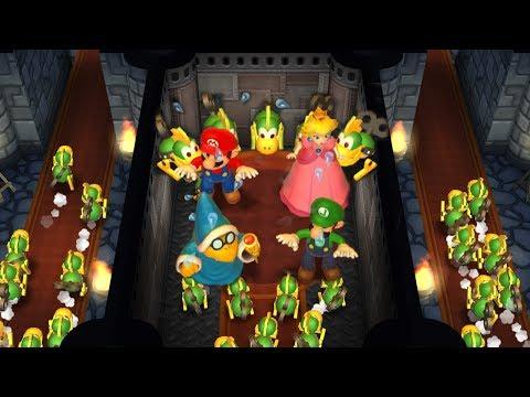 Mario Party 9 Step It Up - Peach vs Mario vs Luigi vs Kamek Master Difficulty| Cartoons Mee