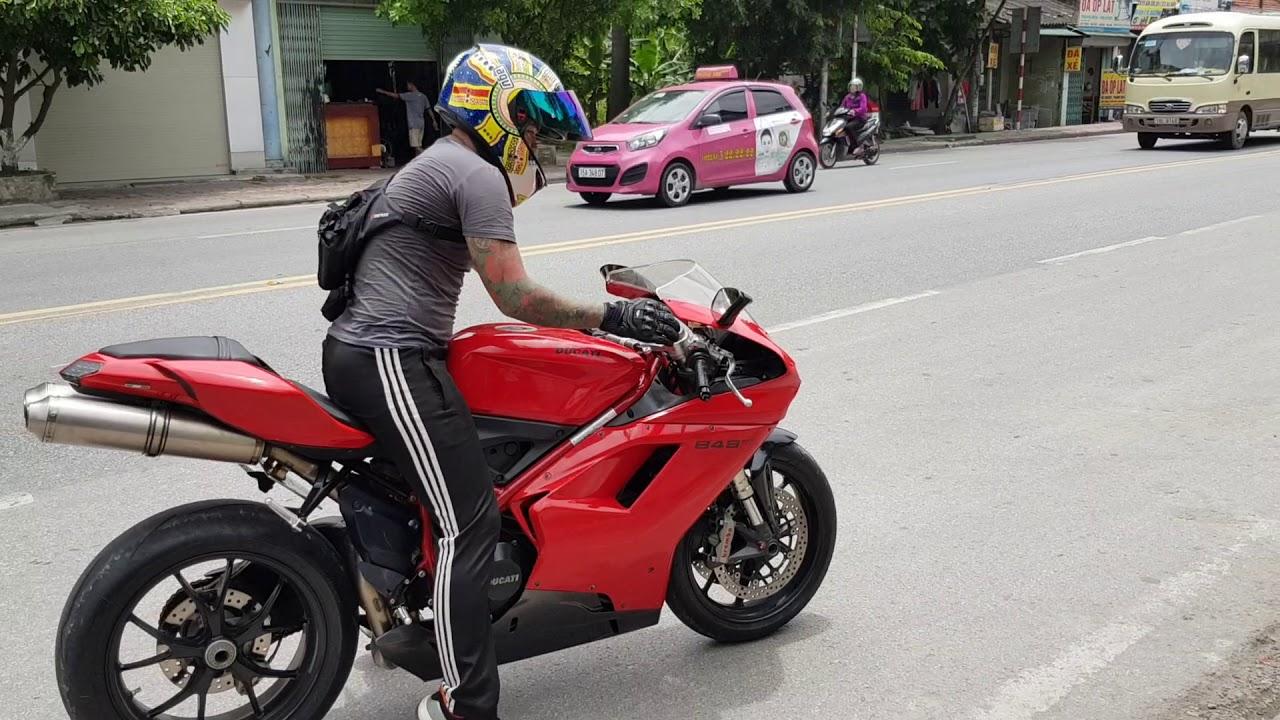 Ducati 848 EVO chạy có tải | Âm thanh động đất | Phượt Safety.