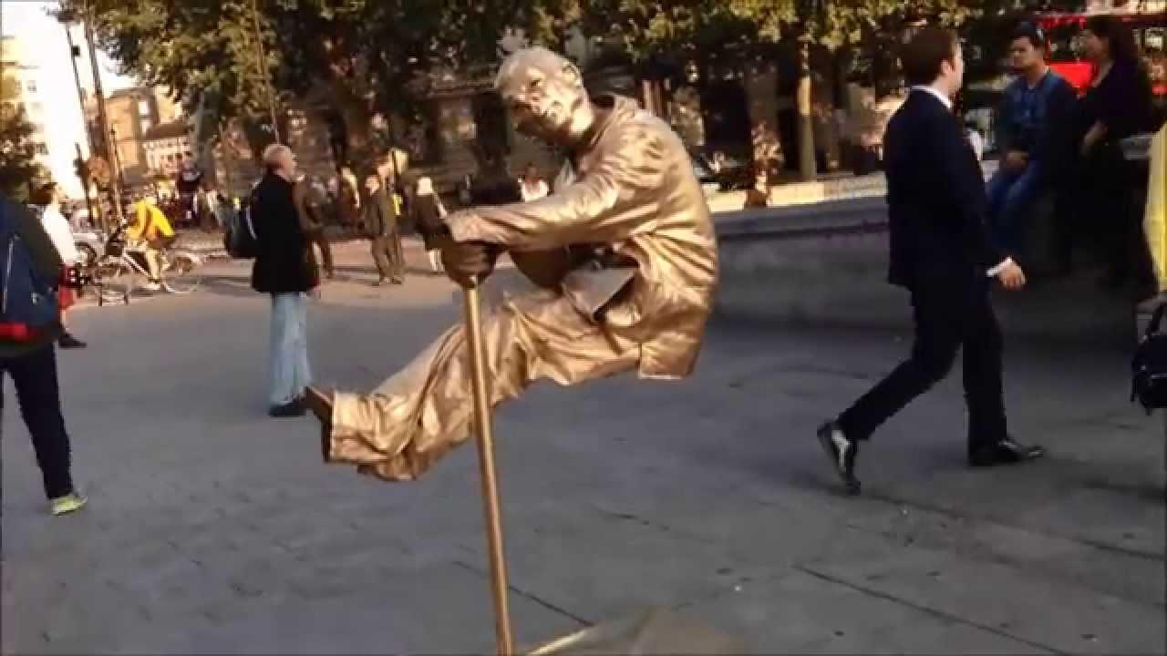 FLOATING Man Trafalgar Square Can You Do It? - YouTube Floating Man