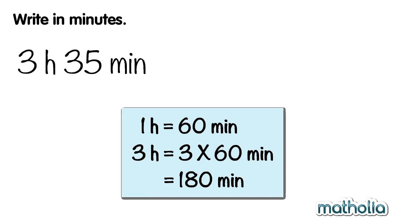 Converting Units of Time (Hours to Minutes) - YouTube