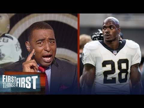Cris Carter: Adrian Peterson looks like the 3rd-best RB on the Saints | FIRST THINGS FIRST