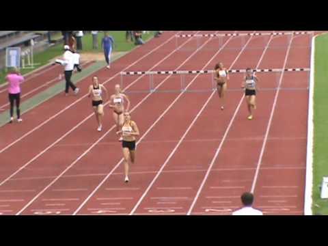 Deutsche Junioren Meisterschaften Regensburg - 400m hurdles  women heat 2 - Hürden Lauf 2