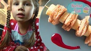 Śniadaniowe szaszłyki z masłem orzechowym