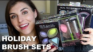 Real Techniques 2018 Holiday Brush Set Reviews   Bailey B.
