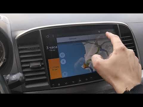 Mitsubishi Lancer X 10 обзор штатной Android магнитолы