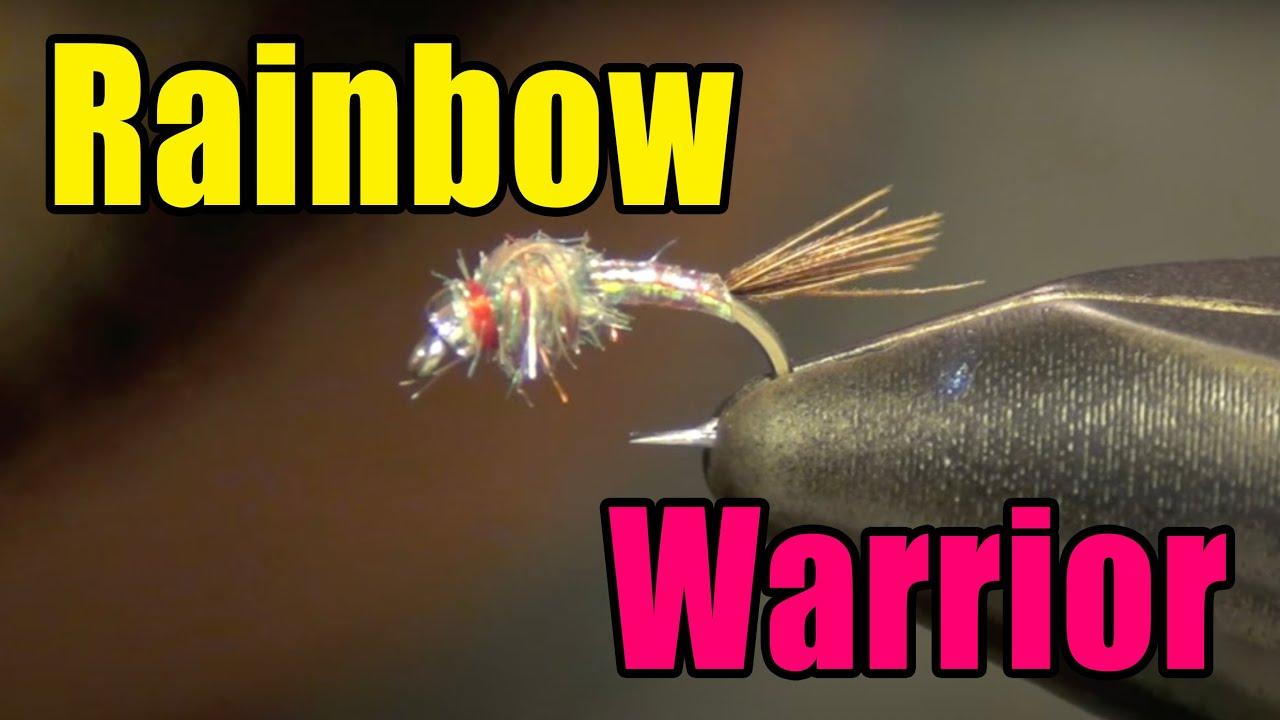 Rainbow warrior midge fly tying video instructions and for Midge fly fishing