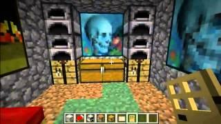 Minecraft - Salida de emergencia acuatica en cuarto secreto [Guia]