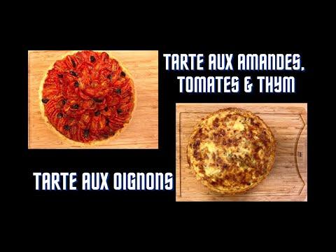 tarte-aux-amandes,-tomates-et-thym-&-tarte-aux-oignons##the-almond,tomato-and-thyme-pie-//onion-tart