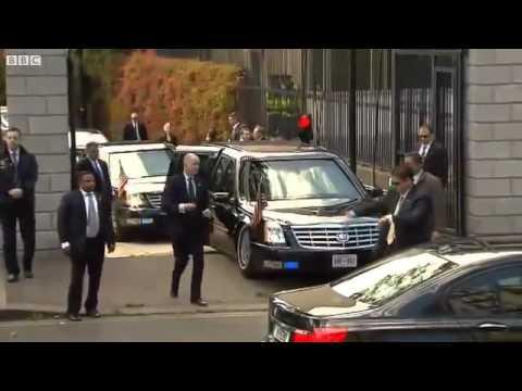 Limosina Barack Obama se queda atascada viaje a irlanda - accidente Barack obama - Fail