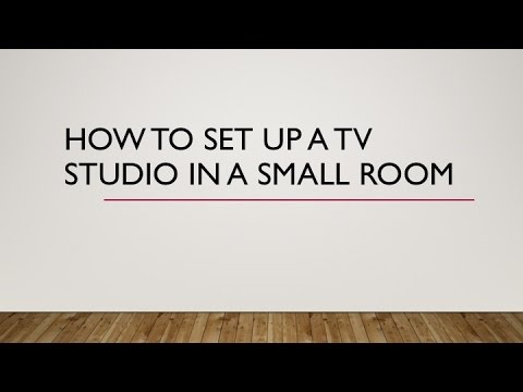 How to set up a TV Studio in a small room Video Starts at 1:30