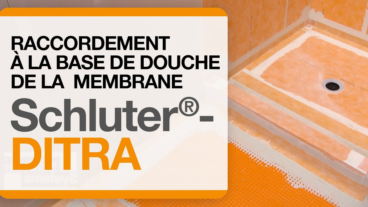 Raccordement de la membrane schluter ditra la base de for Comment percer de la ceramique
