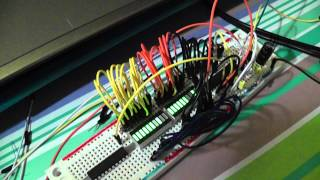 ATmega8 2x10LED vu-meter stereo + peak hold