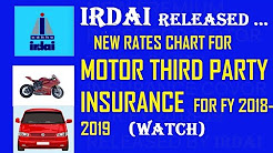 New Premium rates for  Motor Third Party Insurance for FY 2018-2019 released from IRDAI