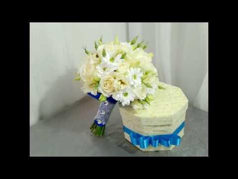 Как сделать классический свадебный букет. How To Make A Classic Wedding Bouquet.