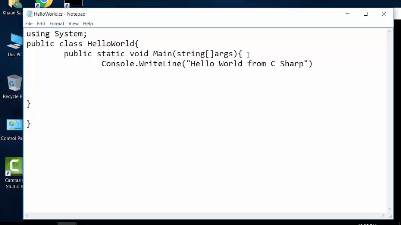 how to make program using notepad