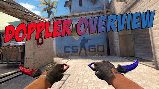 CS:GO - Doppler Knives Overview(Due to a lot of confusion with the Dopplers I made this quick overview that hopefully helps you on trading :D! Rarity: 1. Black Pearl (Ancient) // 2.Ruby & Sapphire ..., 2015-01-16T02:55:31.000Z)