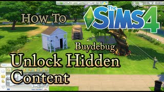 SIMS 4 How To: Unlock Hidden Buydebug Objects Cheat