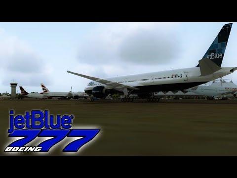 ✈  FSX  jetBlue 777-300er Spotting in Barbados